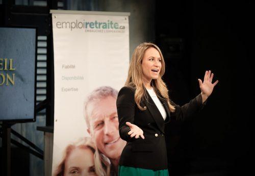 Emploiretraite.ca: Julie Dufresne charme deux Dragons